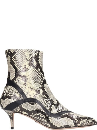 Paula Cademartori Ankle Boots In Grey Leather