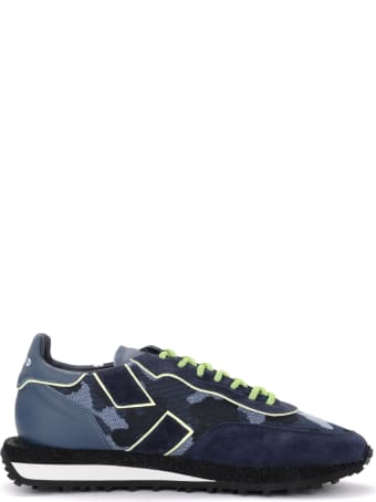 GHOUD Blue Rush Sneaker With Camouflage Print
