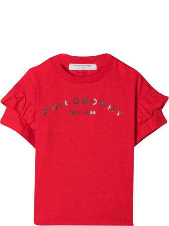 Philosophy di Lorenzo Serafini Kids Red T-shirt With