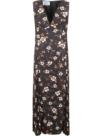 Prada Floral Print Long Dress