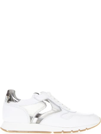 Voile Blanche White Julia Mesh Leather And Mesh Sneaker