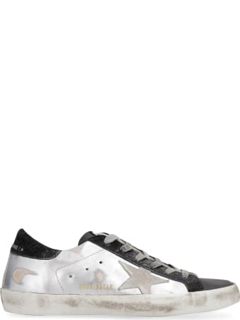 Golden Goose Superstar Metallic Leather Lace-up Sneakers