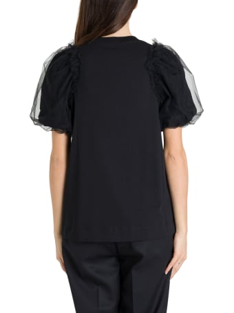 Simone Rocha T-shirt With Tulle Bubble Sleeves