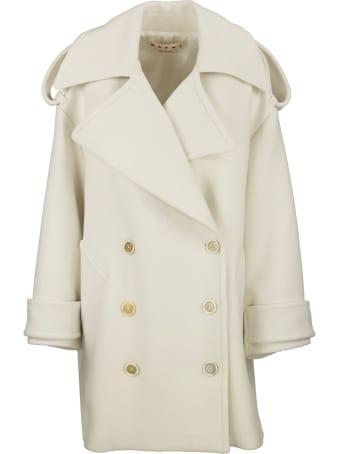 Marni Double-breasted Wool Felt Coat
