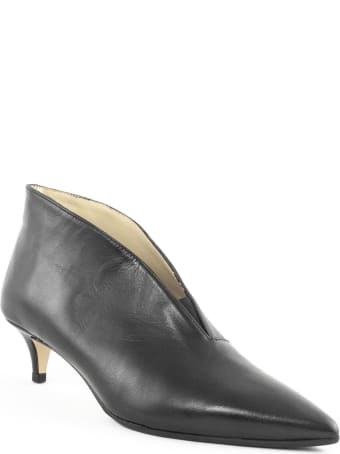 Fabio Rusconi Black Leather Ankle Boots