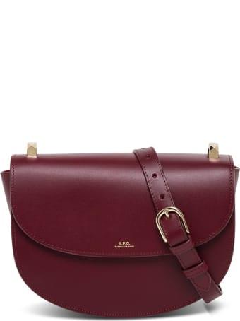 A.P.C. Sace Demi-lune Leather Crossbody Bag