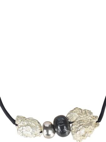Maria Calderara Rock Detailed Necklace