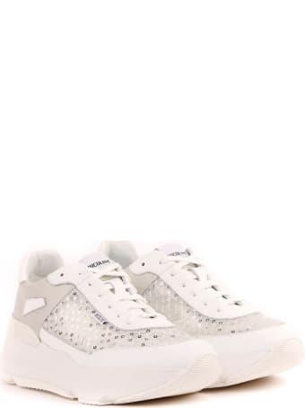 Ruco Line Zenda White Fabric Sneakers