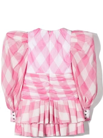 Balmain Pink And White Cotton Blouse