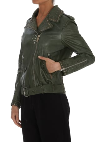 Golden Goose Golden Studs Chiodo Leather Jacket