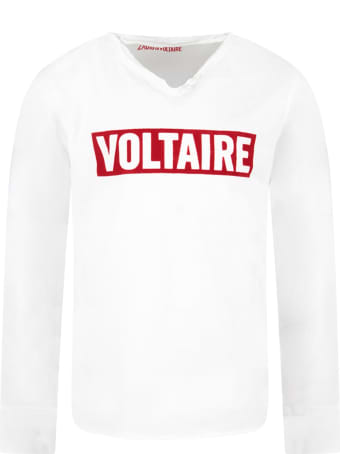 Zadig & Voltaire White Boy T-shirt With White Logo