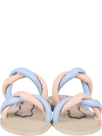 Francesca Bellavita Multicolor Sandals For Girl