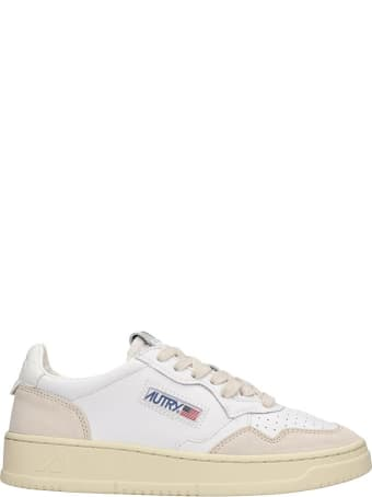 Autry Autry 01 Sneakers In White Suede And Leather