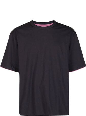 AMBUSH Grey And Pink Cotton Reversible T-shirt