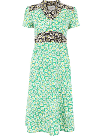 HVN Daisy Print Morgan Dress