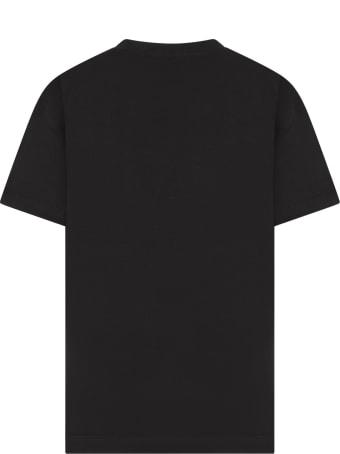 Jeremy Scott Black T-shirt For Kids With Black Logo