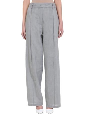 Maison Flaneur Grey Cotton Pants