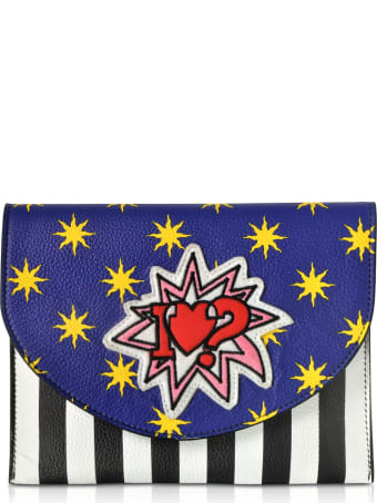 Alessandro Enriquez Miracle Pop Love Leather Clutch