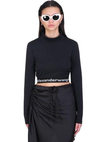 T by Alexander Wang Knitwear In Black Synthetic Fibers
