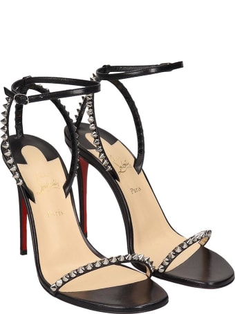 Christian Louboutin So Me 100 Kid Sandals In Black Leather