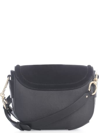 See by Chloé Suede Cowhide Leather Small Grain On Co