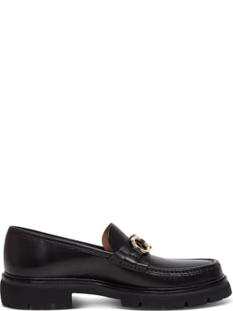 Salvatore Ferragamo Leather Loafers With Ganci Buckle