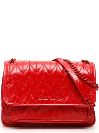 Miu Miu Quilted Shine Calfskin Bag