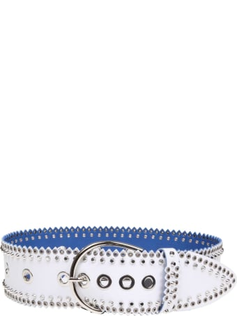 Nanni Belt In White Leather