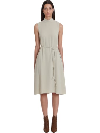 Theory Dress In Green Tech/synthetic