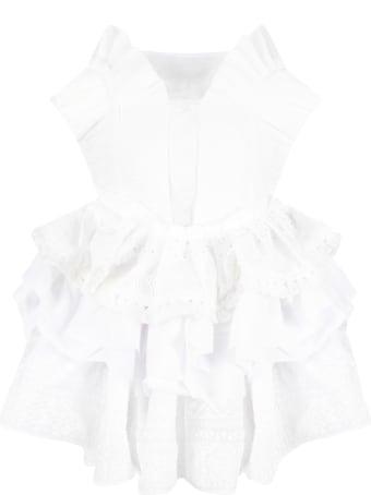 Nikolia White And Ivory ''blanca'' Dress For Girl