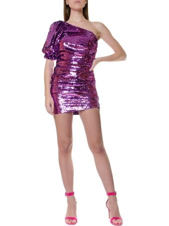 For Love & Lemons One-shoulder Dress Covered With Sequins