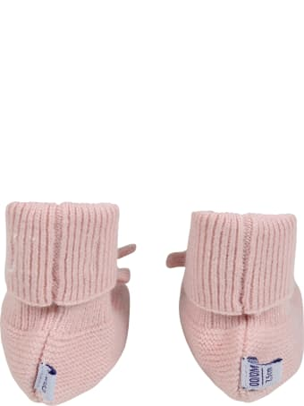 Absorba Pink Bootee For Baby Girl
