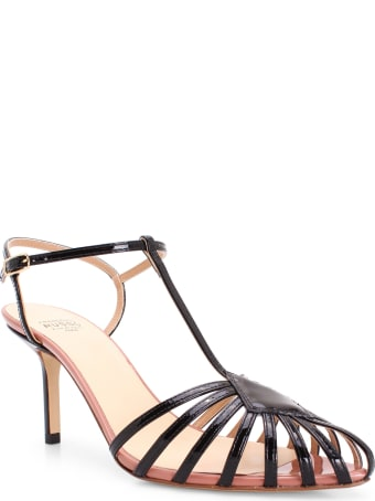Francesco Russo 'cage' Leather Sandals