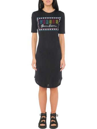 Versus Versace Printed Slim Fit Dress