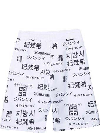 Givenchy White Bermuda Shorts Teen