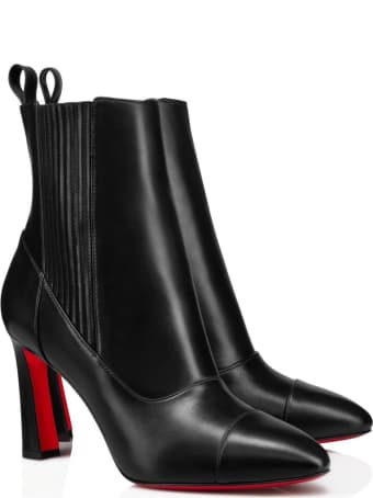 Christian Louboutin Black Leather Me In The 90s Ankle Boots