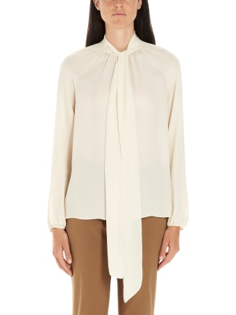 Theory 'tie Scarf' Blouse