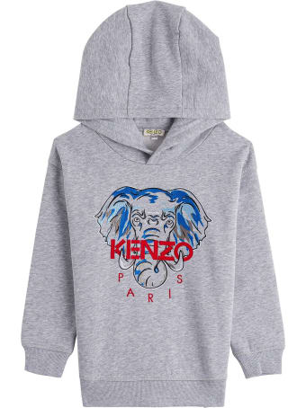 Kenzo Kids Jersey Sweatshirt With Front Logo