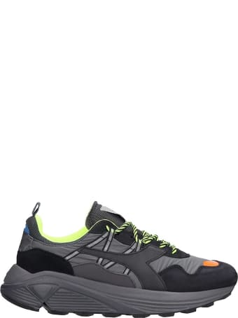 Diadora Rave Leather  Sneakers In Black Leather And Fabric