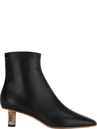 MM6 Maison Margiela Mm6 Cork Effect Ankle Boots