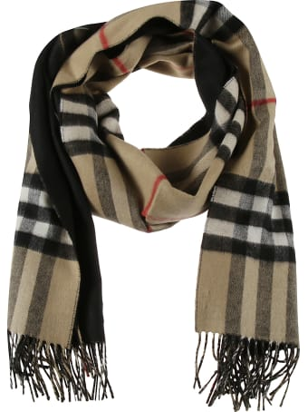 Burberry Giant Check Fringed Scarf