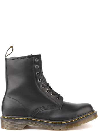 Dr. Martens Leather Boots With Contrasting Stitching