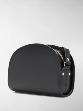 A.P.C. Leather Demi-lune Crossbody Bag
