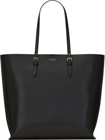 Saint Laurent Saint Laurent Textured Logo Stamp Tote Bag