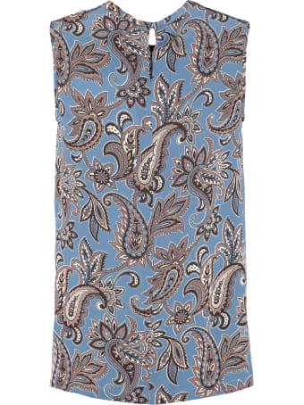 'S Max Mara Memo Printed Silk Blouse