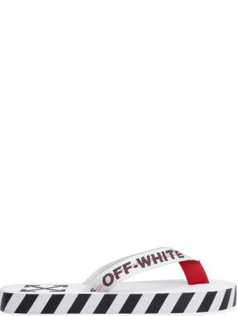 Off-White Rubber Flip Flops