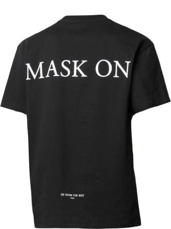 ih nom uh nit Black Cotton T-shirt