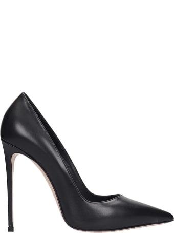 Le Silla Pumps In Black Leather