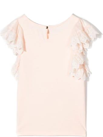 Chloé Light Pink Cotton Blend Top