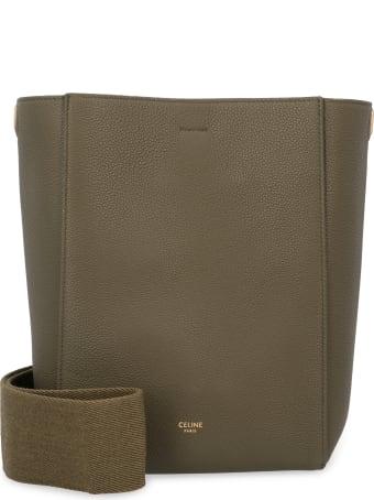 Celine Sangle Leather Bucket Bag